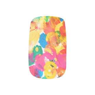 Cute colorful abstract painting minx nail art
