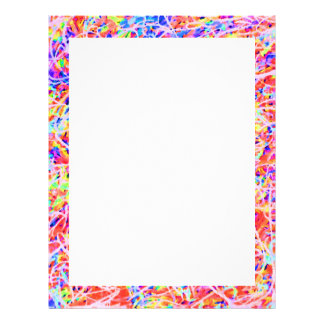 Cute colorful abstract painting personalized letterhead