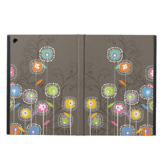 Cute Colorful Abstract Retro Flowers iPad Air Cover