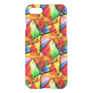 Cute colorful abstract seamless triangles patterns iPhone 8/7 case
