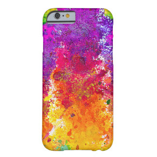 Cute colorful abstract splatter paint barely there iPhone 6 case