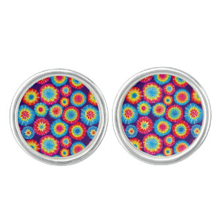 Cute colorful abstract suns patterns cuff links