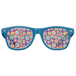 Cute colorful abstract suns patterns retro sunglasses