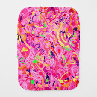 Cute colorful abstract swirls paint burp cloth