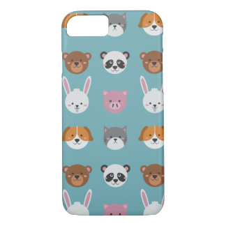 Cute Colorful Animals iPhone 7 Phone Case