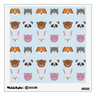 Cute Colorful Animals Wall Decal