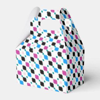 Cute colorful aztec pattern party favor boxes