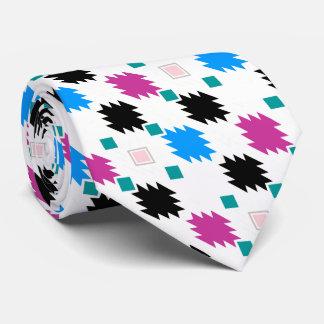 Cute colorful aztec pattern tie