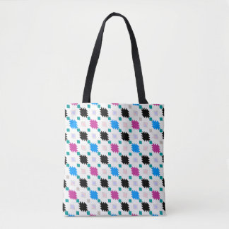 Cute colorful aztec pattern tote bag