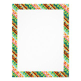 Cute colorful aztec patterns letterhead