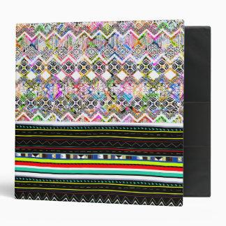 Cute colorful aztec tribal patterns binders