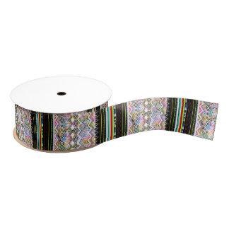 Cute colorful aztec tribal patterns grosgrain ribbon