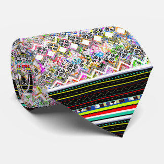 Cute colorful aztec tribal patterns tie