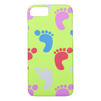 Cute colorful Baby Footsteps Pattern iPhone 7 Case
