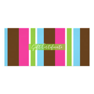 Cute Colorful Bakery Macaroons Gift Certificate