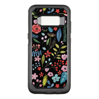 Cute Colorful Botanical Flowers Pattern OtterBox Commuter Samsung Galaxy S8 Case