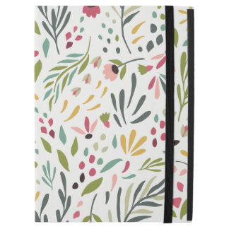 "Cute Colorful Botanical Leafs & Flowers Pattern iPad Pro 12.9"" Case"