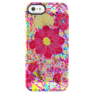 Cute colorful bright flowers clear iPhone SE/5/5s case