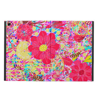 Cute colorful bright flowers cover for iPad air