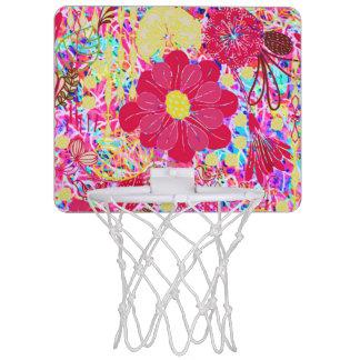 Cute colorful bright flowers mini basketball hoop