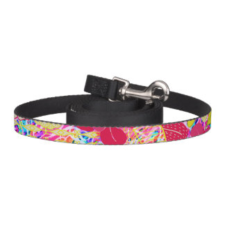 Cute colorful bright flowers pet leash