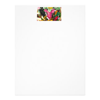 Cute colorful bright pink  embroidery heart letterhead