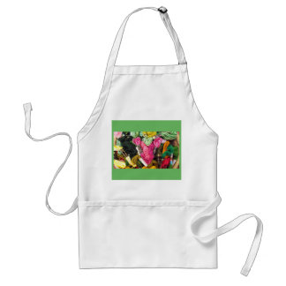 Cute colorful bright pink  embroidery heart standard apron