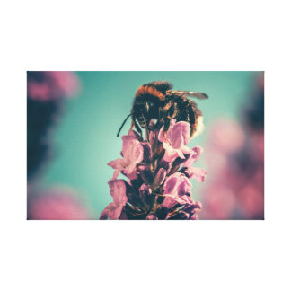 Cute Colorful Bumble Bee Canvas Print