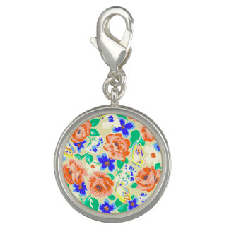 Cute colorful butterflies roses patterns charm