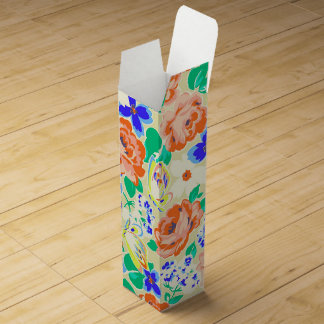 Cute colorful butterflies roses patterns wine box