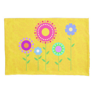 Cute colorful cartoon flower pillowcase cover