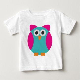 Cute colorful cartoon owl t shirt