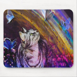 Cute Colorful Cat Mousepad, Cats Mouse Pad
