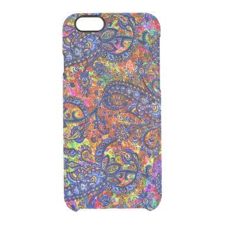Cute colorful chakra pattern clear iPhone 6/6S case