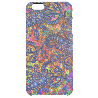 Cute colorful chakra pattern clear iPhone 6 plus case