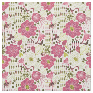 Cute colorful classic floral pattern fabric