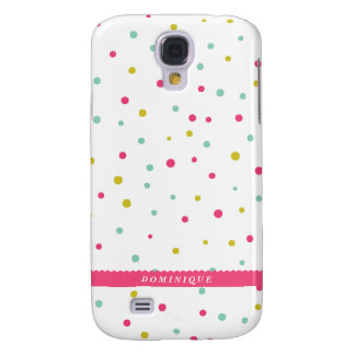 Cute Colorful Confetti Dots Pattern Custom Samsung