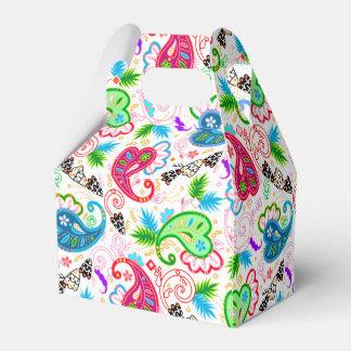 Cute colorful decorative flowers patterns favor box