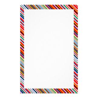 Cute colorful decorative stripes stationery