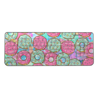 Cute Colorful Donnuts Pastel Pink Blue Fritter Wireless Keyboard