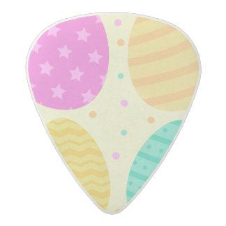 Cute colorful easter eggs pattern acetal guitar pick