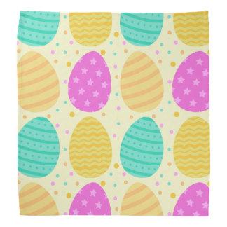 Cute colorful easter eggs pattern bandana