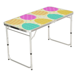 Cute colorful easter eggs pattern beer pong table