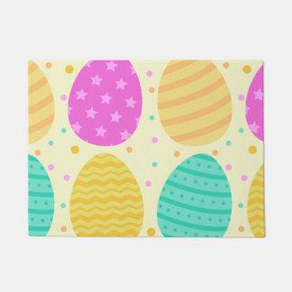 Cute colorful easter eggs pattern doormat