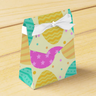 Cute colorful easter eggs pattern favor box