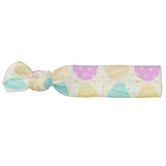 Cute colorful easter eggs pattern hair tie