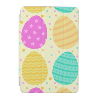 Cute colorful easter eggs pattern iPad mini cover