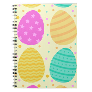 Cute colorful easter eggs pattern notebook