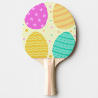 Cute colorful easter eggs pattern ping pong paddle