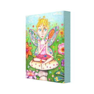 Cute Colorful Fairy Art Canvas Print